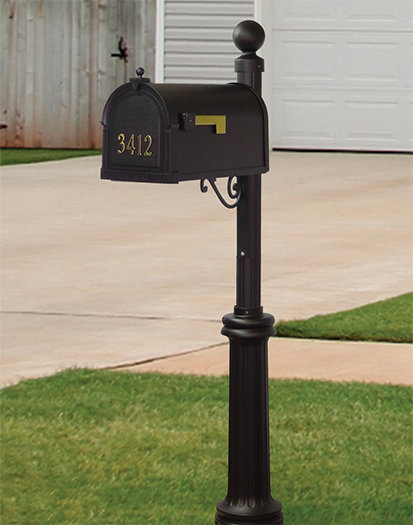Balwdin Curbside Mailbox and Post