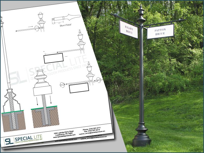 Arlington National Cemetery Street Name Sign Poles