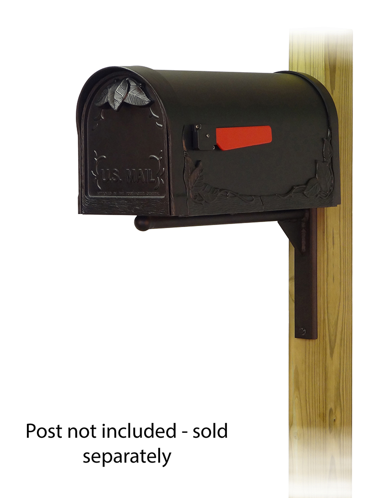 Ashley-Mailbox-Mounting-Bracket-with-Floral-Curbside-Mailbox