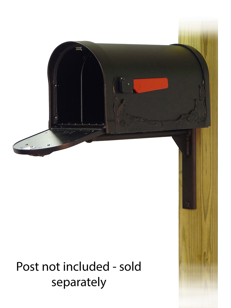 Ashley-Floral Mailbox and Mounting Bracket-Door Open