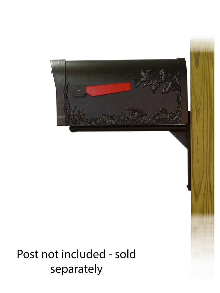 Ashley Mailbox Mounting Bracket with Hummingbird Curbside Mailbox