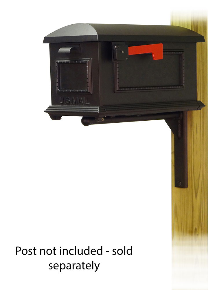 Ashley Mailbox Mounting Bracket with Traditional Curbside Mailbox
