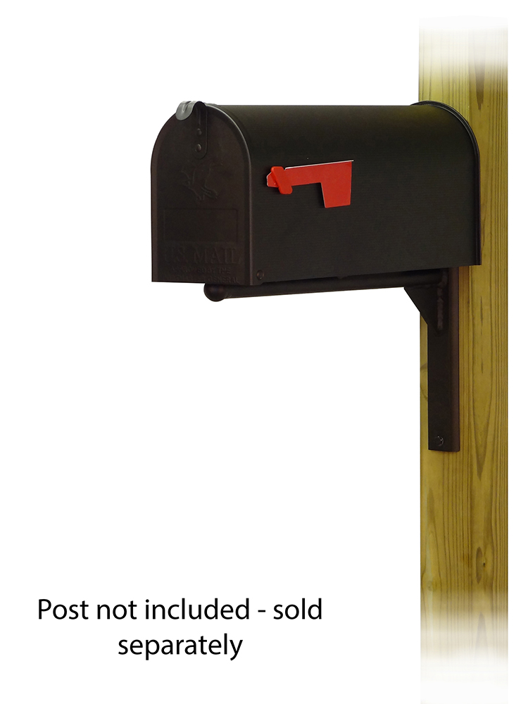 Ashley Mailbox Mounting Bracket with Standard Steel Curbside Mailbox