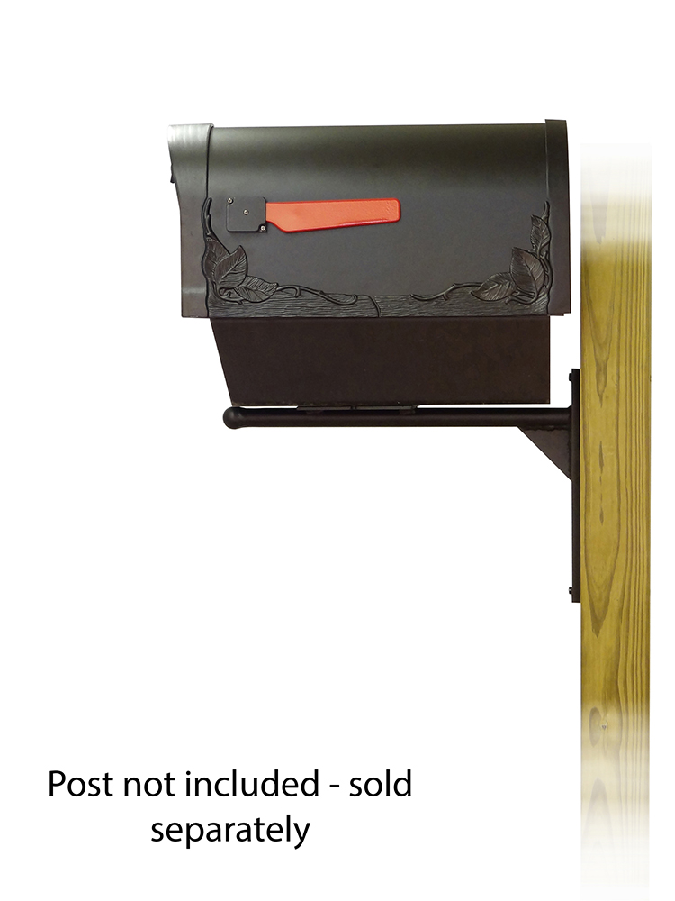 Ashley-Floral Mailbox and Mounting Bracket-Side View