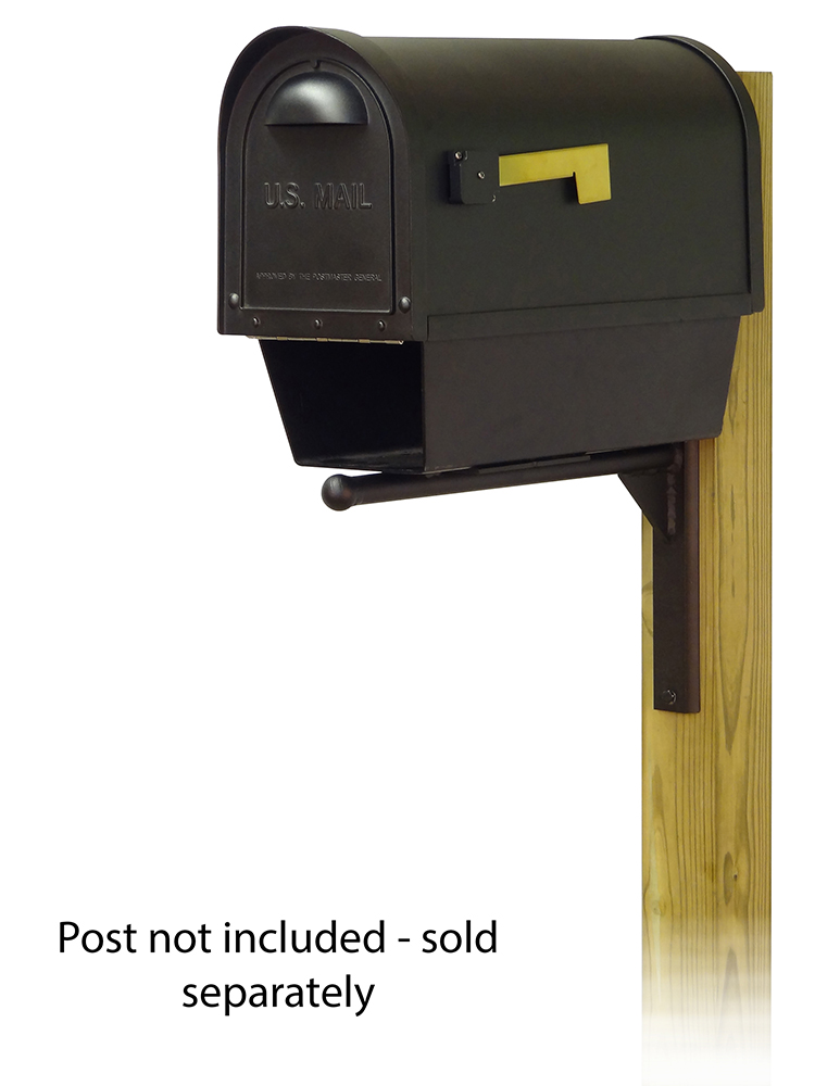 Ashley Mounting Bracket with Classic Curbside Mailbox