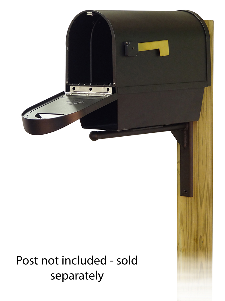 Ashley Mailbox Mounting Bracket and Classic Curbside Mailbox