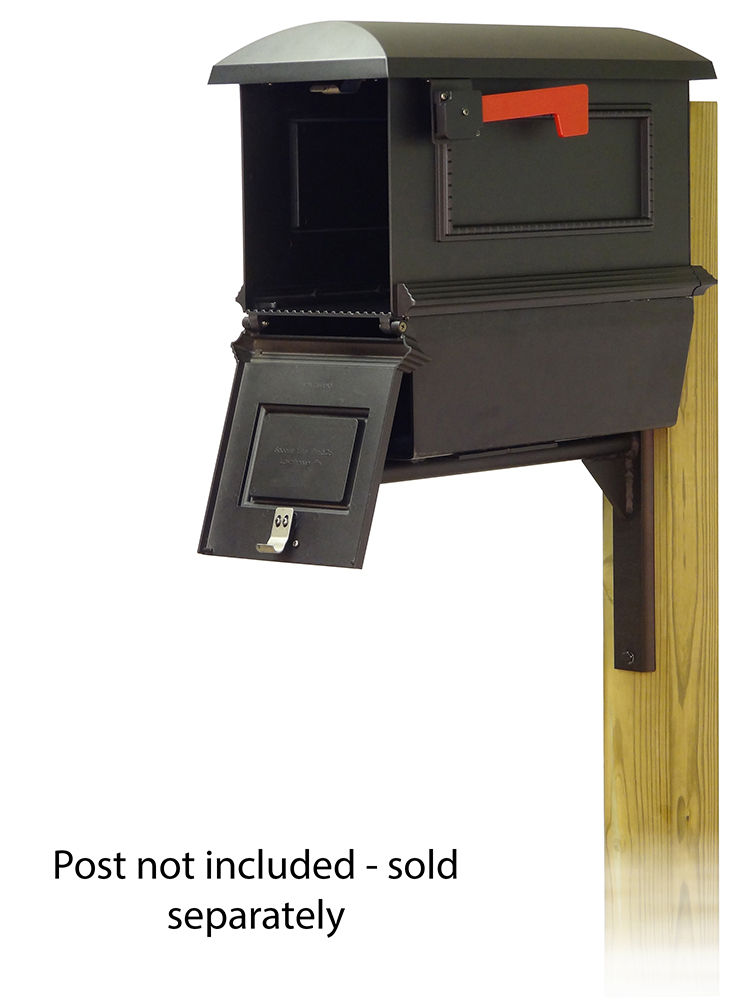 Ashley Mailbox Mounting Bracket and Traditional Curbside Mailbox