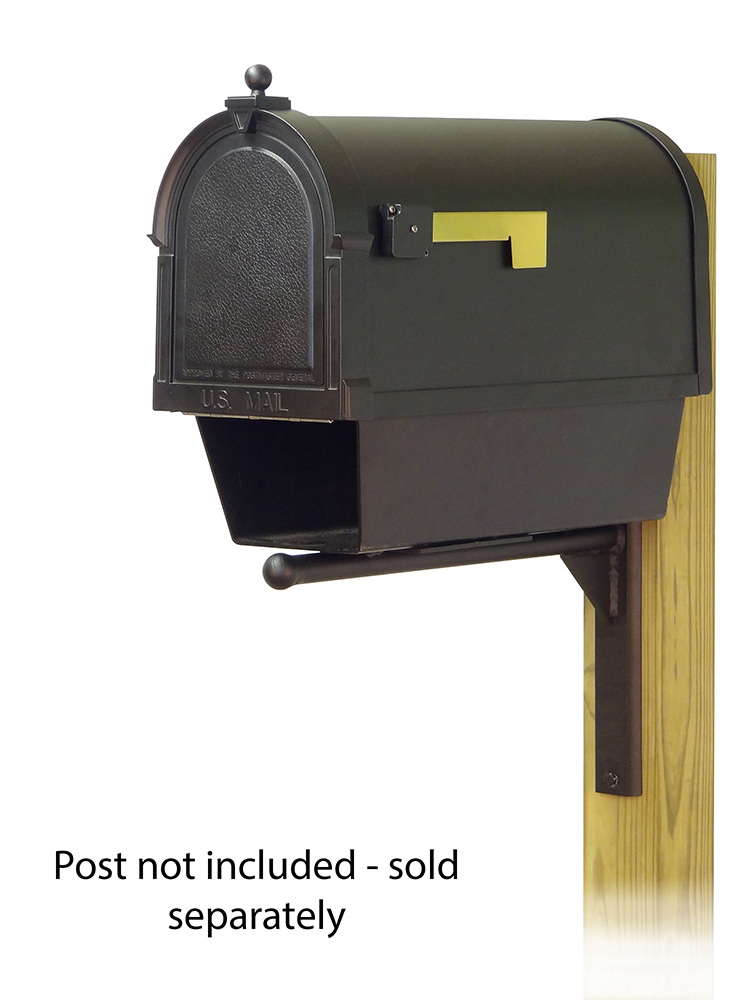 Ashley Mailbox Mounting Bracket with Berkshire Curbside Mailbox with Newspaper Tube