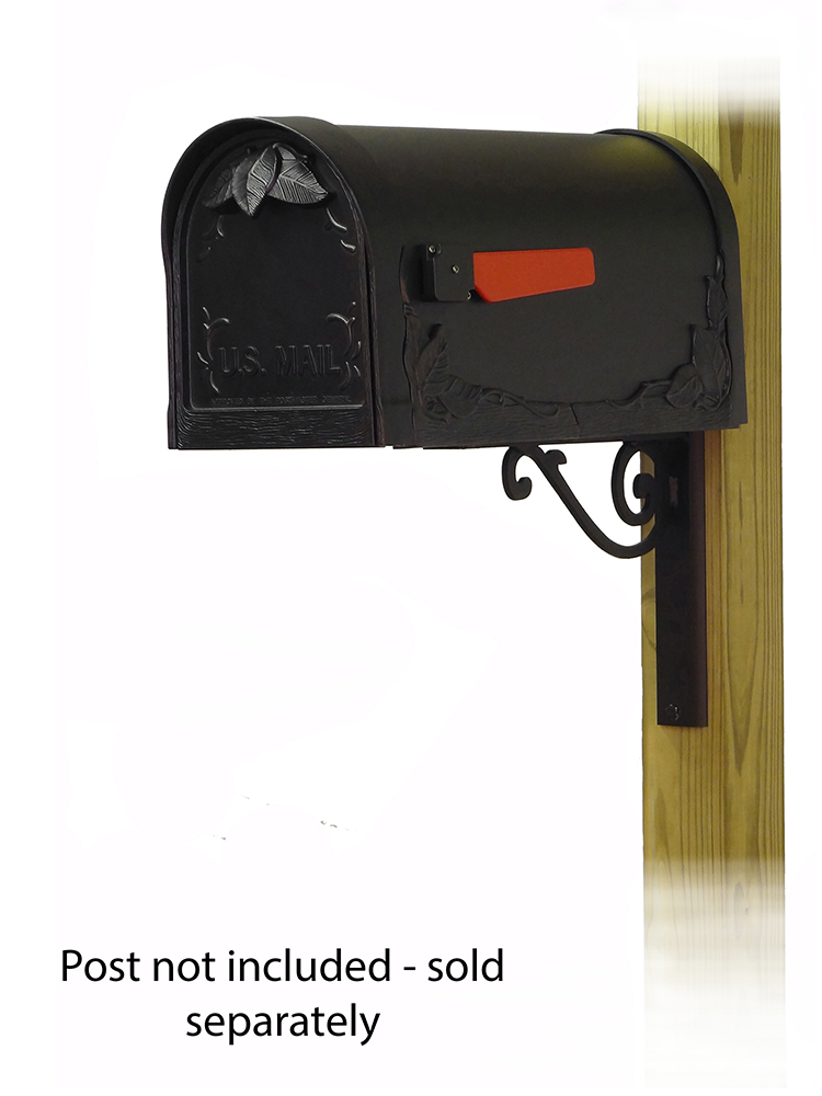 Baldwin Mailbox Mounting Bracket with Floral Curbside Mailbox