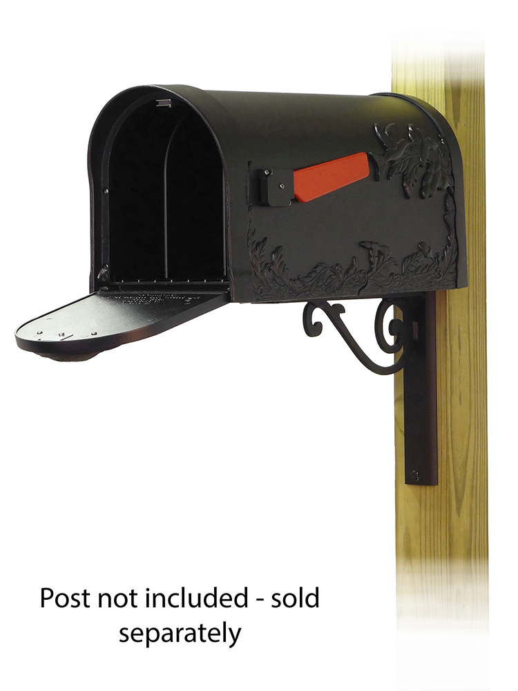 Baldwin Mailbox Mounting Bracket with Hummingbird Curbside Mailbox