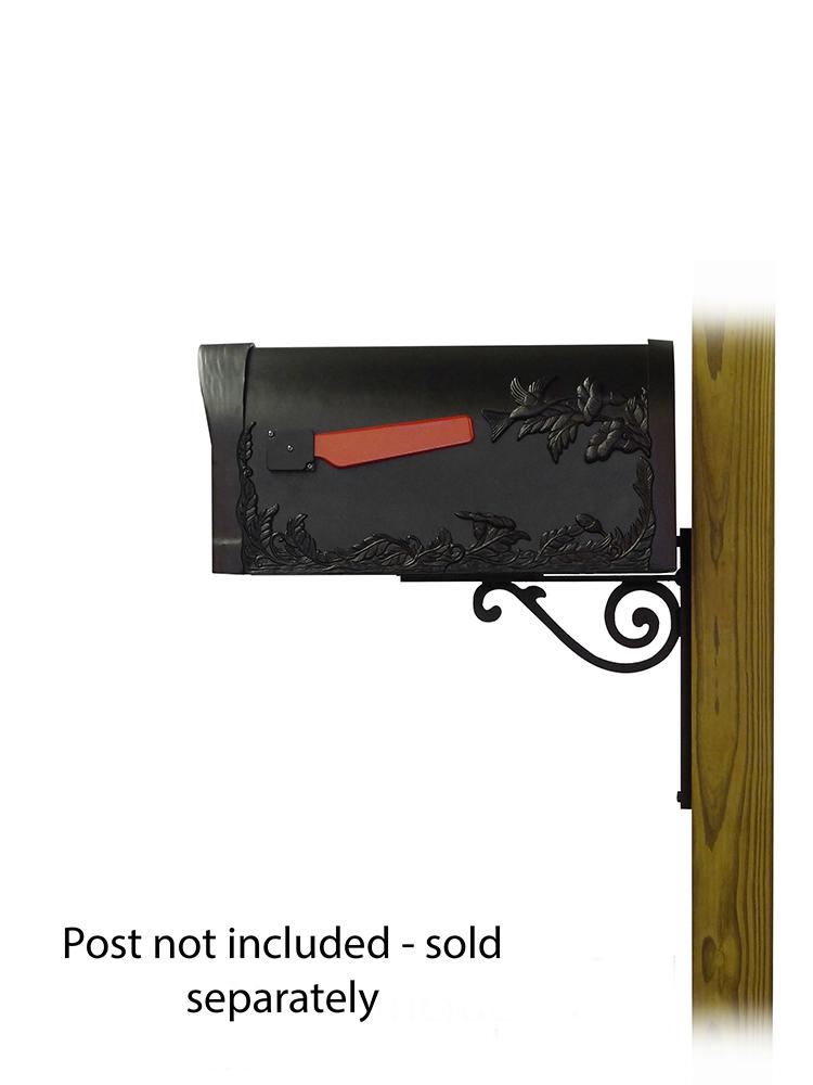 Baldwin Mailbox Mounting Bracket with Hummingbird Curbside Mailbox
