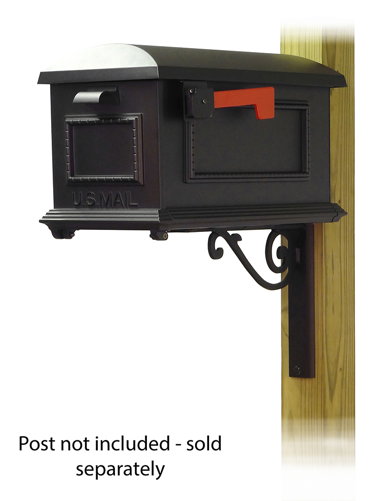 Baldwin Mailbox Mounting Bracket with Traditional Curbside Mailbox