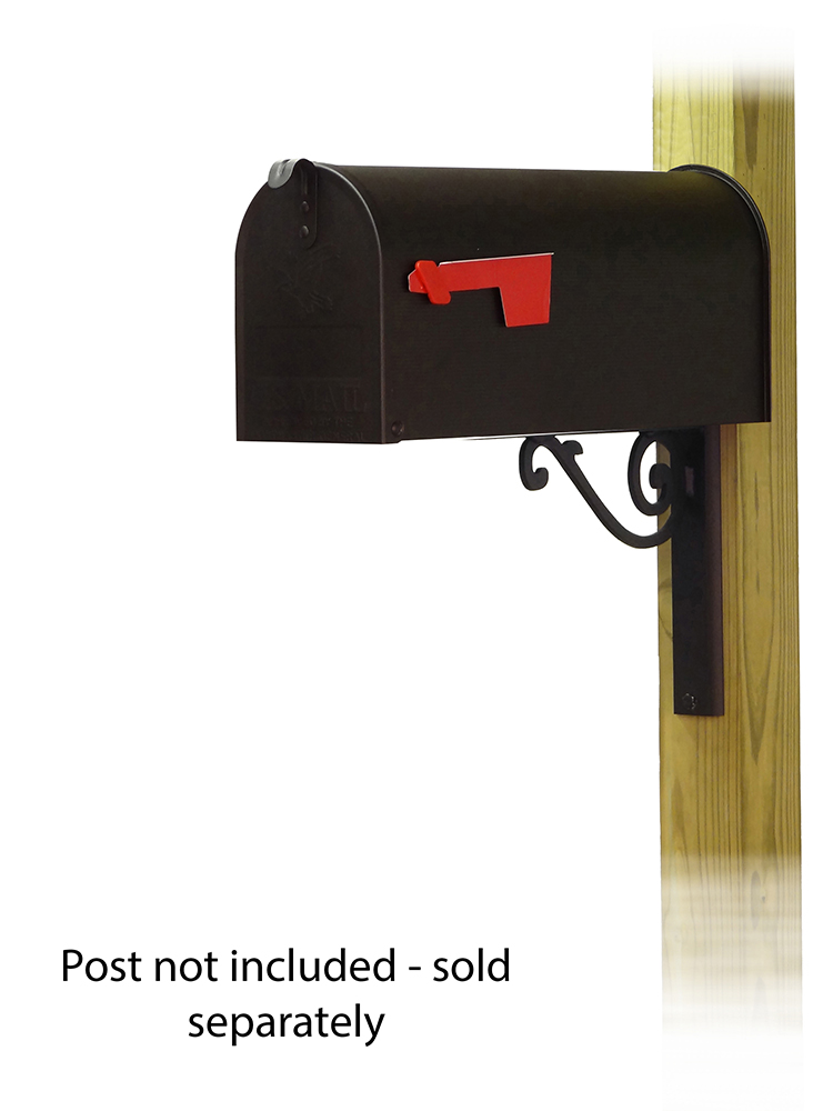 Baldwin Mailbox Mounting Bracket with Standard Steel Curbside Mailbox