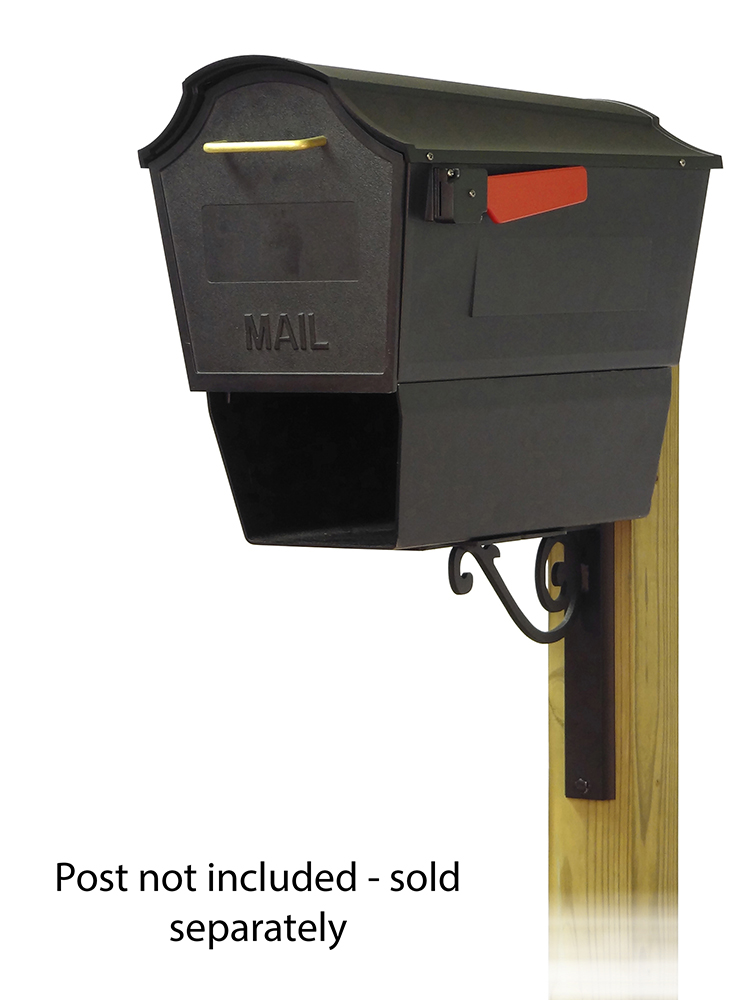 Baldwin Mailbox Mounting Bracket with Town Square Curbside Mailbox