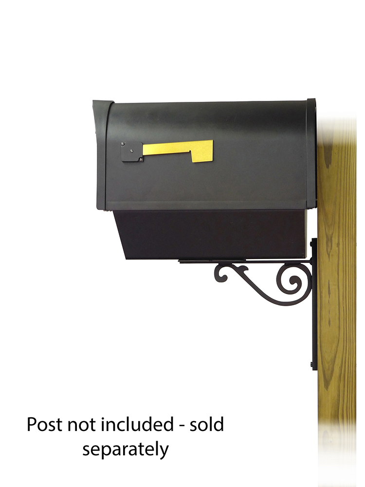 Baldwin Mailbox Mounting Bracket with Classic Curbside Mailbox
