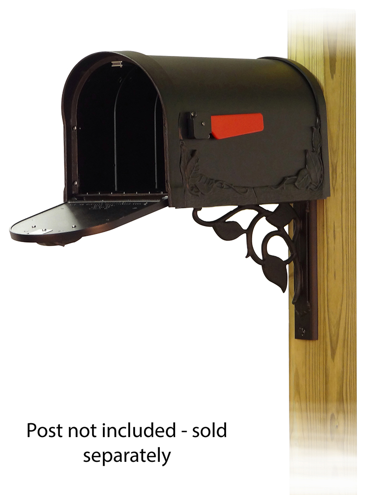 Floral Mailbox Mounting Bracket and Floral Curbside Mailbox