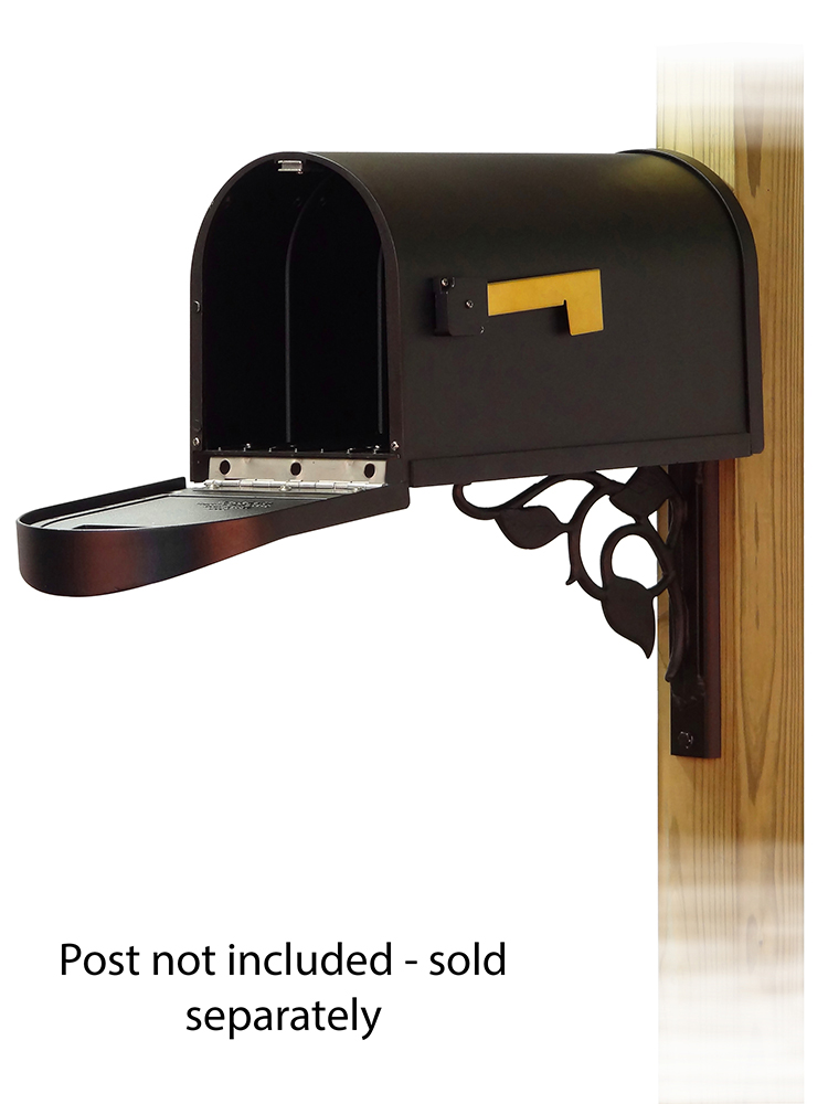 Floral Mailbox Mounting Bracket and Classic Curbside Mailbox