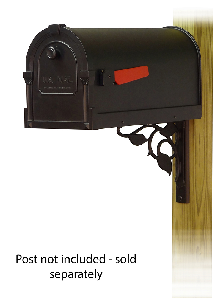 Floral Mailbox Mounting Bracket and Savannah Curbside Mailbox