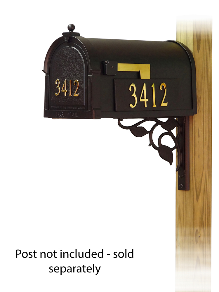Floral Mailbox Mounting Bracket and Berkshire Curbside Mailbox
