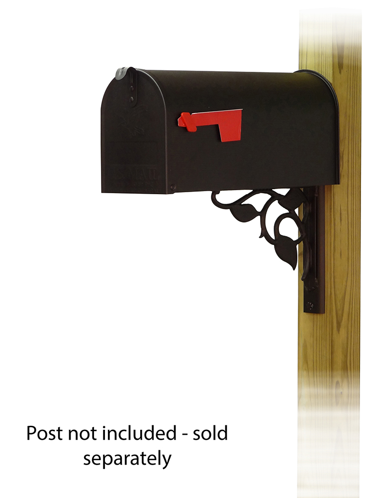 Floral Mailbox Mounting Bracket and Standard Steel Curbside Mailbox