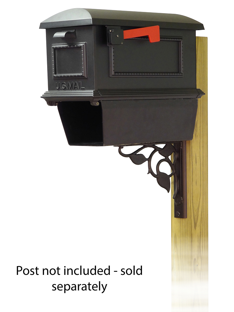 Floral Mailbox Mounting Bracket and Traditional Curbside Mailbox
