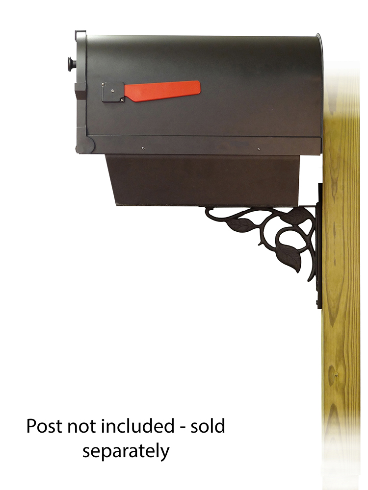 Floral Mailbox Mounting Bracket and Savannah Curbside Mailbox