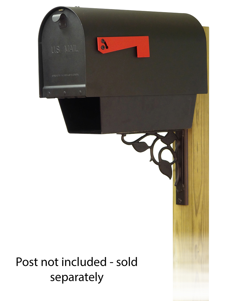 Floral Mailbox Mounting Bracket and Titan Curbside Mailbox