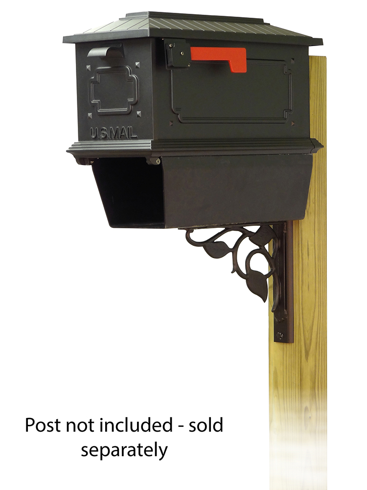 Floral Mailbox Mounting Bracket and Kingston Curbside Mailbox
