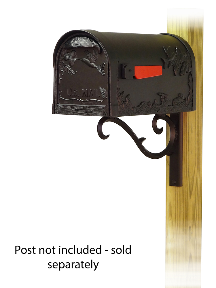 Sorrento Mailbox Mounting Bracket and Hummingbird Curbside Mailbox