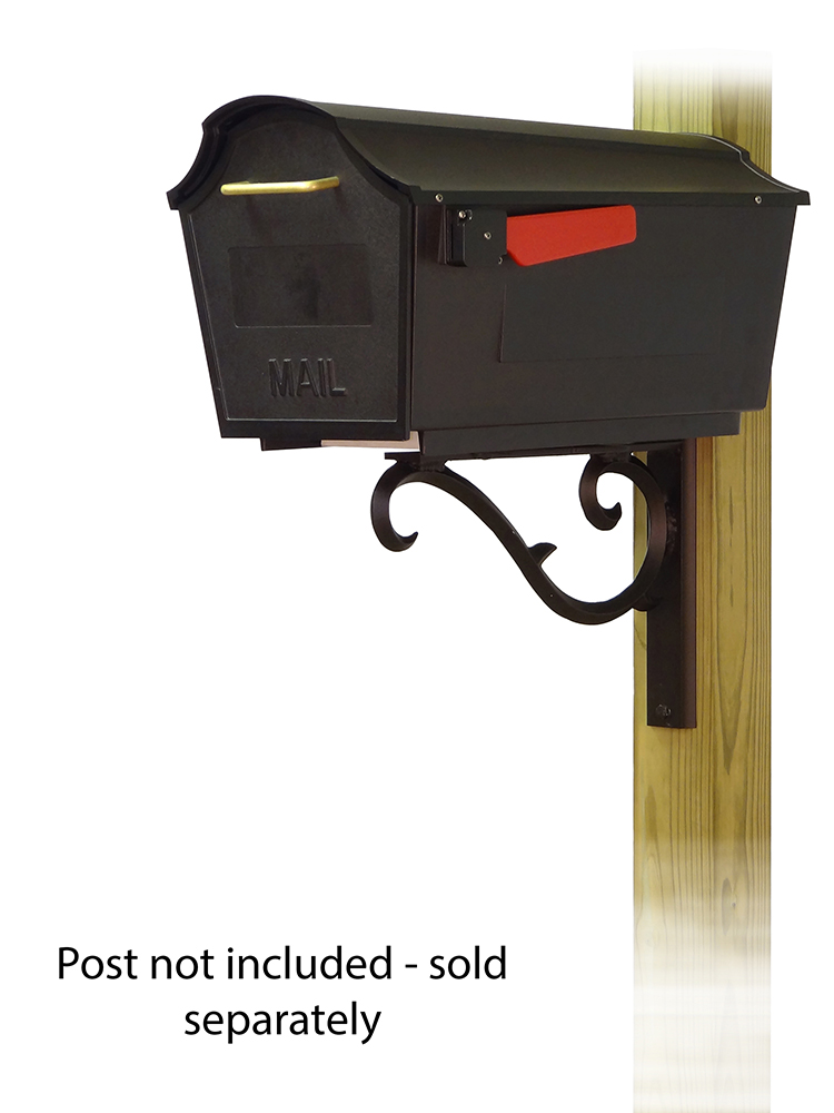 Sorrento Mailbox Mounting Bracket and Town Square Curbside Mailbox