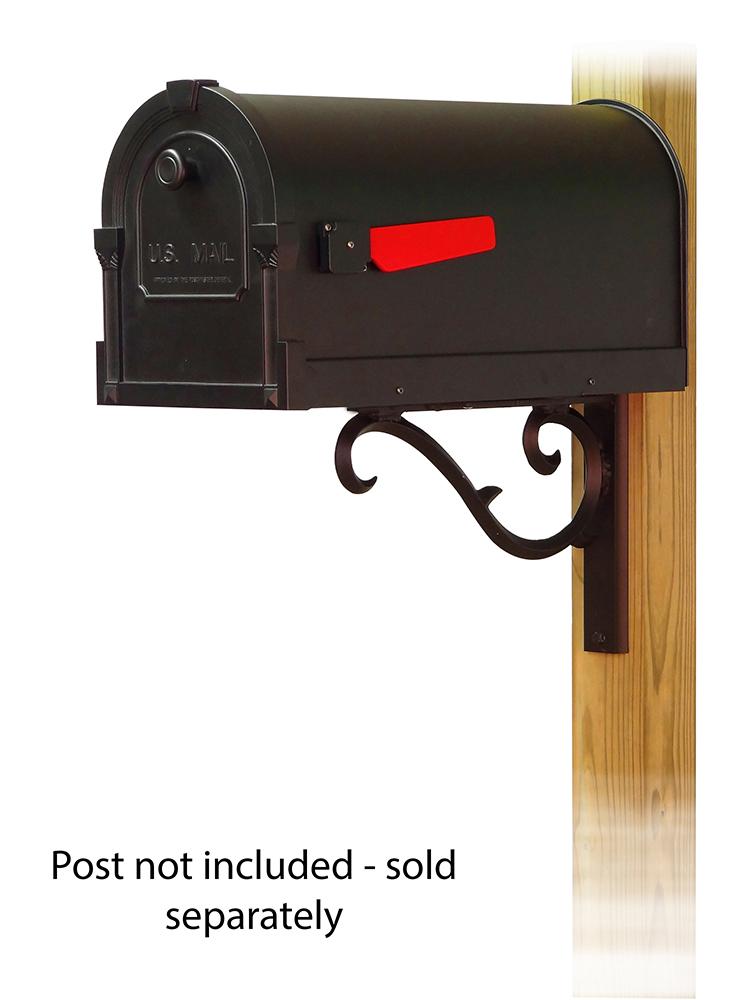 Sorrento Mailbox Mounting Bracket and Savannah Curbside Mailbox