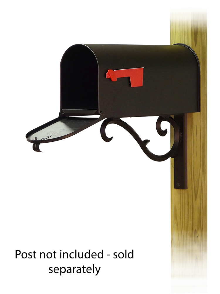 Sorrento Mailbox Mounting Bracket and Standard Steel Curbside Mailbox