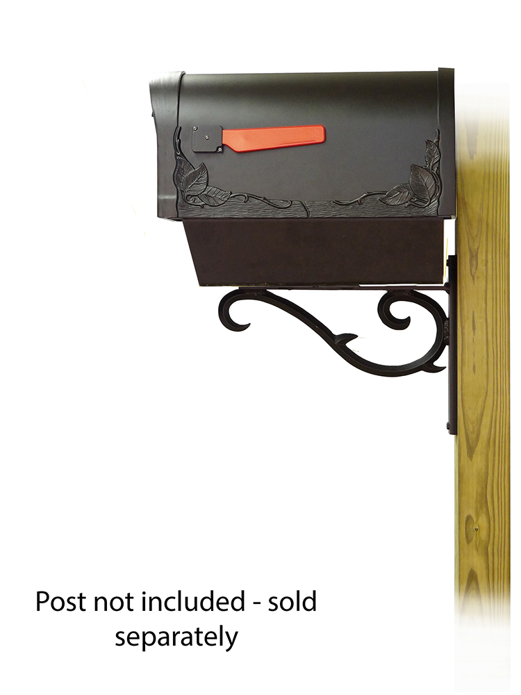 Sorrento Mailbox Mounting Bracket with Floral Curbside Mailbox