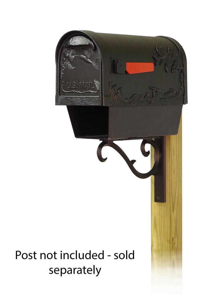 Sorrento Mailbox Mounting Bracket and Hummingbird Curbside Mailbox