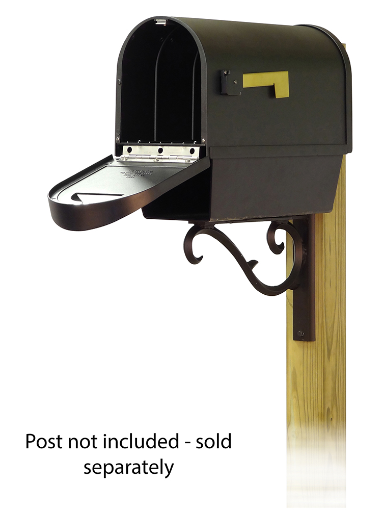 Sorrento Mailbox Mounting Bracket and Classic Curbside Mailbox