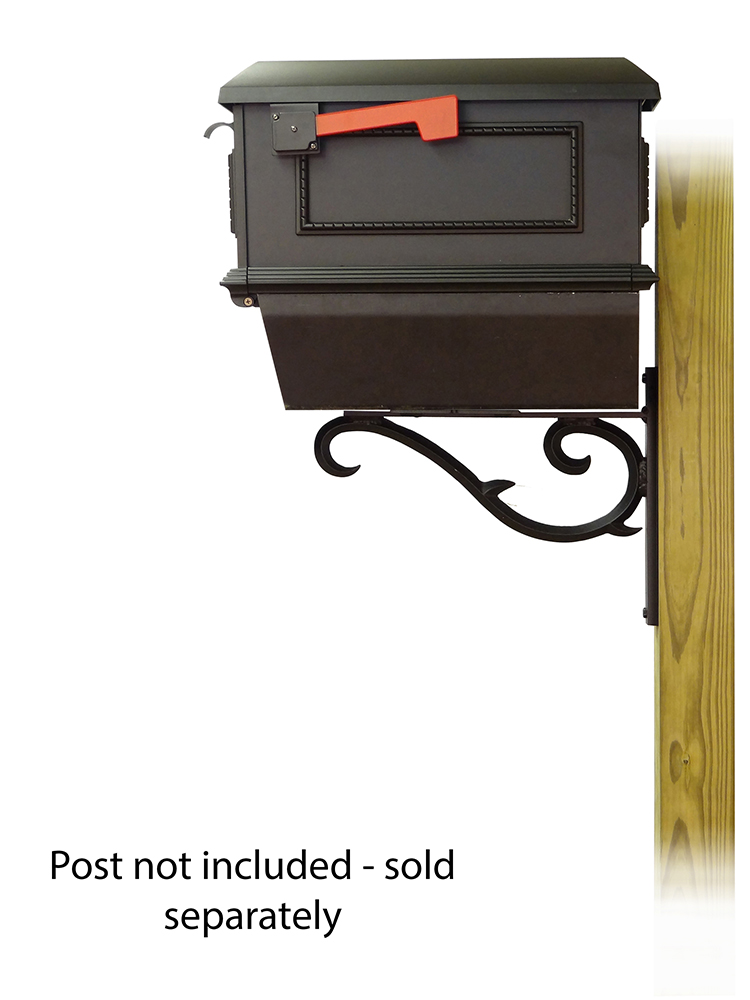 Sorrento Mailbox Mounting Bracket and Traditional Curbside Mailbox