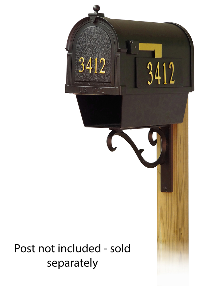 Sorrento Mailbox Mounting Bracket and Berkshire Curbside Mailbox