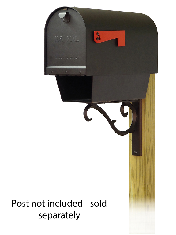 Sorrento Mailbox Mounting Bracket with Titan Aluminum Curbside Mailbox