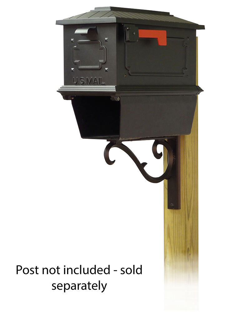 Sorrento Mailbox Mounting Bracket and Kingston Curbside Mailbox