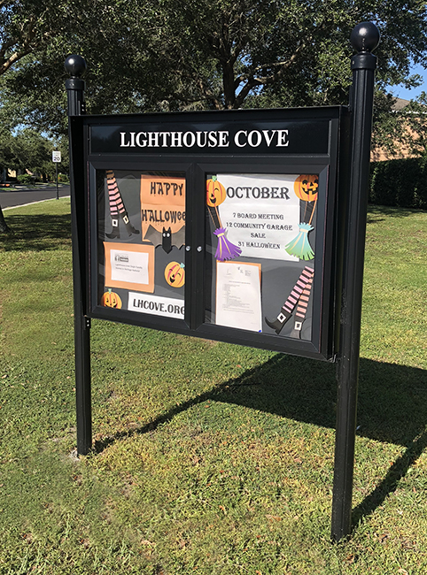 outdoor community message board for HOA