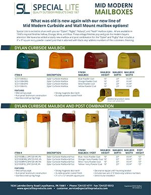 Mid Century Modern Mailbox Flyer