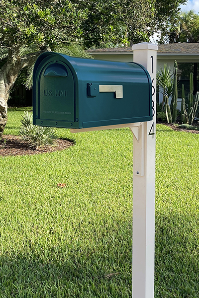Mid Century Modern Curbside Mailboxes and posts