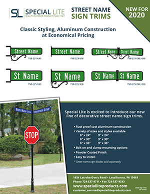 New Street Name Sign Trim Brochure