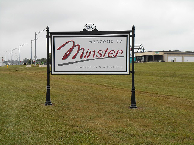 Village of Minster Ohio community entrance signs