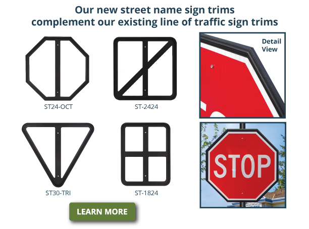 decorative Stop sign trims