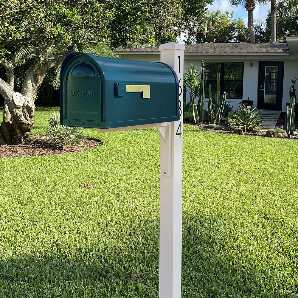 Mid century modern curbside mailboxes