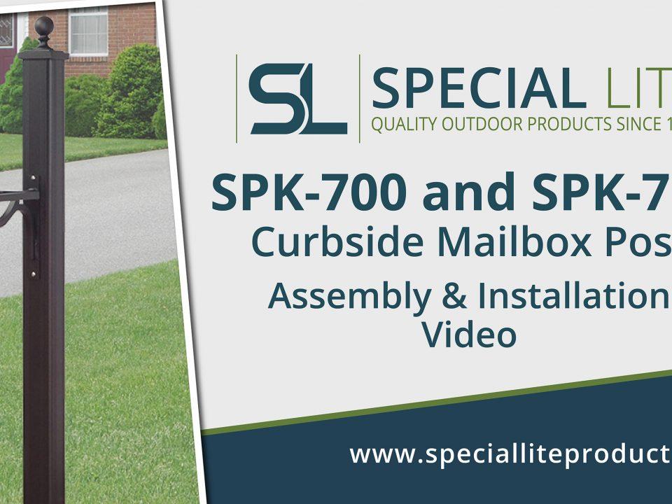 SPK-710 Aluminum Curbside Mailbox Post Assembly