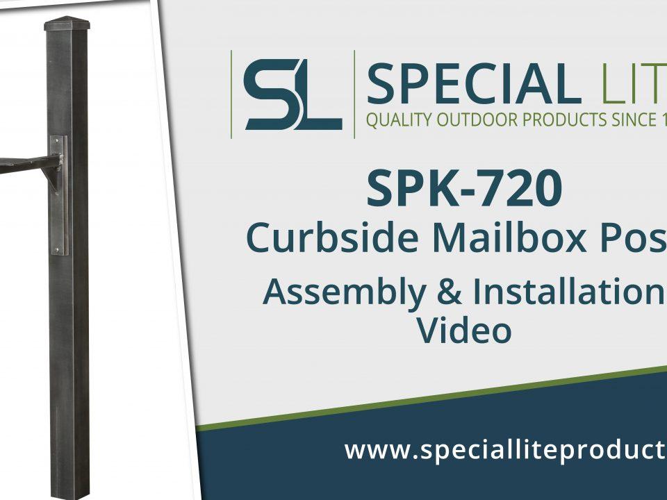 SPK-720 Aluminum Curbside Mailbox Post